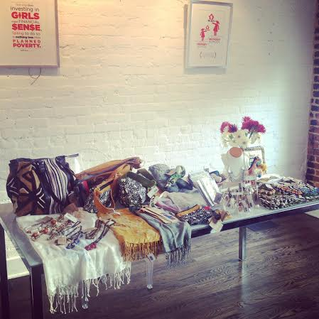 An Amani volunteer sale at a happy hour event in Logan Circle.