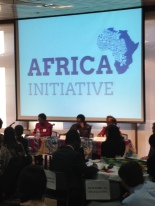 "The African Union Ambassador speaking at AU's event, ""Moving Africa Forward"" on April 16th, 2014."